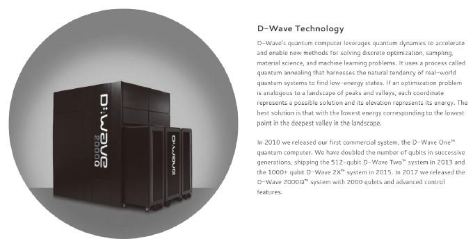 図5:D-Waveの量子コンピュータ
