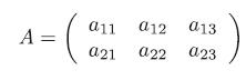 2×3の2次元配列