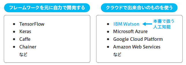 図1.11 人工知能をパッケージングで分類した例