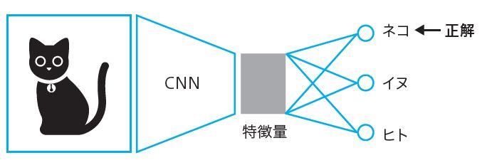 図1.9 CNNによる画像分類