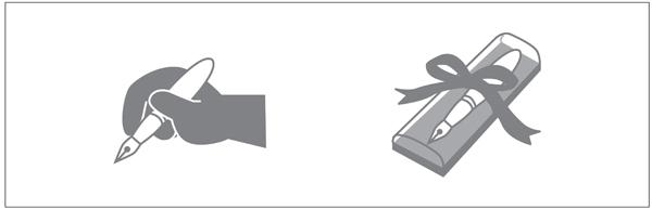 図1.3:道具としてのペンと商品としてのペン