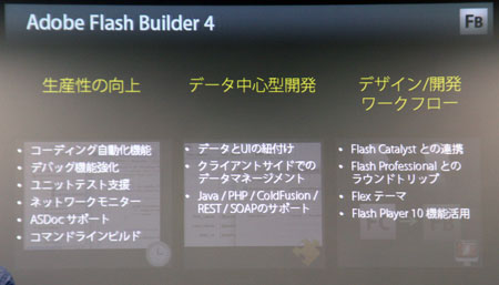 Adobe Flash Builder 4の3つのテーマ